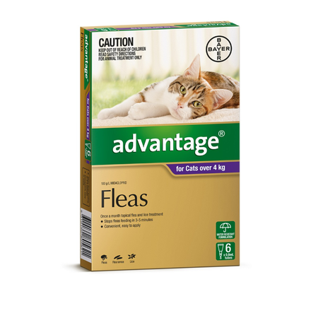 Advantage Flea Treatment for Cats 4kg+  6pk