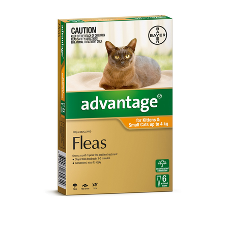 Advantage Flea Treatment for Cats <4kg   6pk