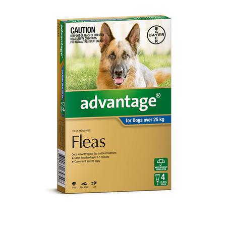 Advantage Flea Treatment for Dogs 25kg+  4pk