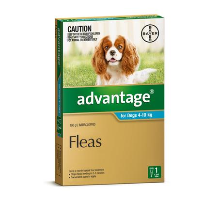Advantage Flea Treatment for Dogs 4kg-10kg 1pk