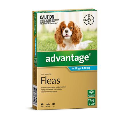 Advantage Flea Treatment for Dogs 4kg-10kg  6pk