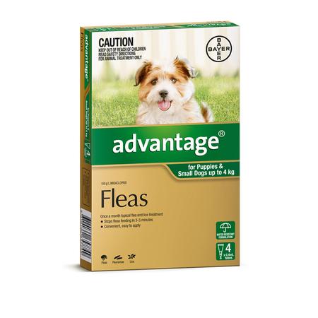 Advantage Flea Treatment for Dogs <4kg   4pk