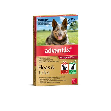 Advantix Flea and Tick Treatment for Dogs 10kg-25kg 1pk