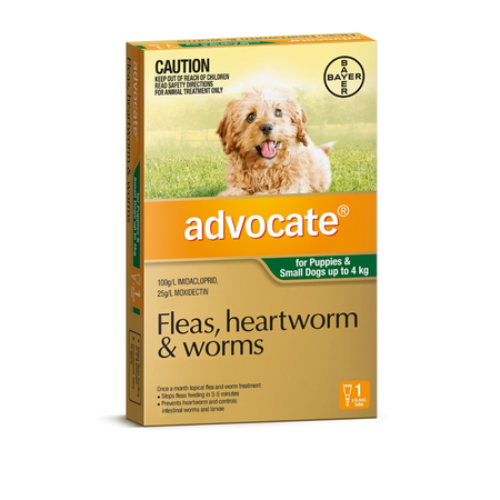 Advocate for Dogs <4kg - Green 1pk
