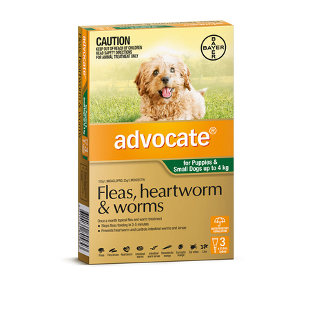 Advocate for Dogs <4kg - Green 3 pack
