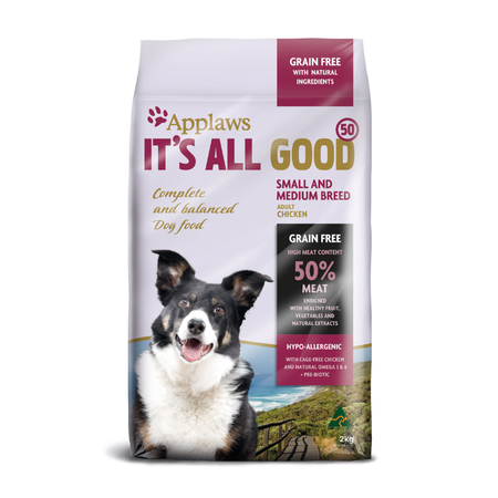 Applaws Adult Small and Medium Breed Grain Free Dry Dog Food  2kg