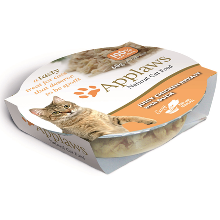 Applaws Cat Juicy Chicken Breast with Duck Pot - 60gm