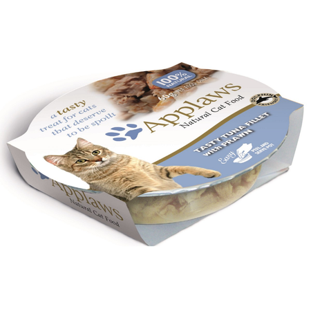 Applaws Cat Luxury Tuna Fillet with Prawn Pot - 60gm