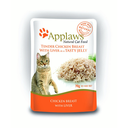 Applaws Cat Pouch Chicken with Liver in Jelly - 70gm