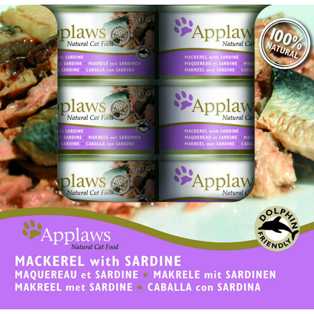 Applaws Tin Cat Mackerel & Sardine - 70gm