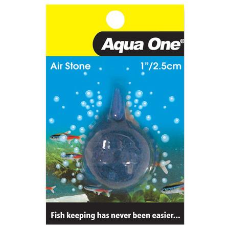 Aqua One Ball Style Aquarium Airstone Blue 1In