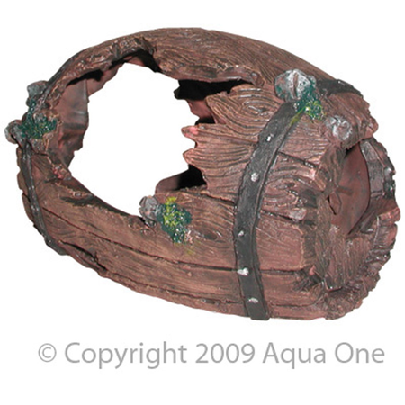 Aqua One Barrel Aquarium Ornament  Medium (15x10cm)