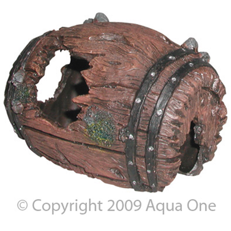 Aqua One Barrel Aquarium Ornament  Small (13x10cm)