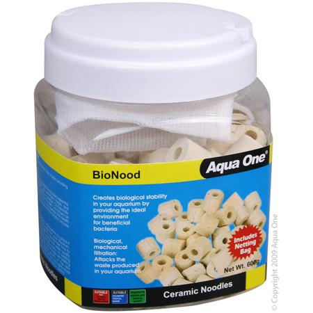 Aqua One BioNood Ceramic Noodles Aquarium Filter Media  600gm