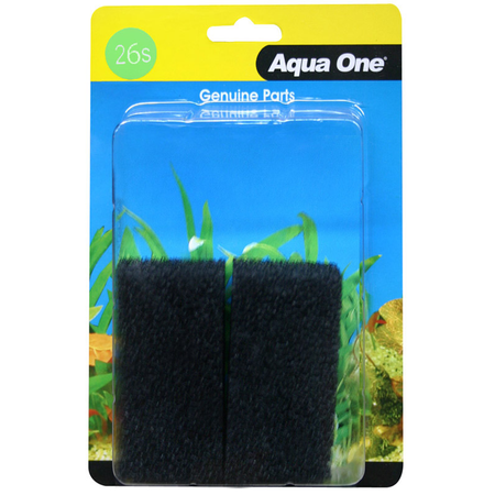 Aqua One Black Sponge - 102F 2 pack