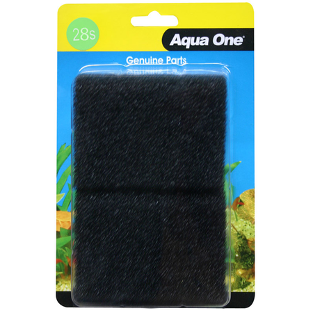 Aqua One Black Sponge - 104F 2 pack