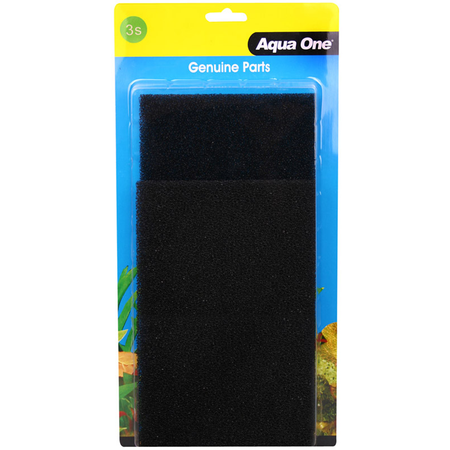 Aqua One Black Sponge - AR620/620T - 2 pack