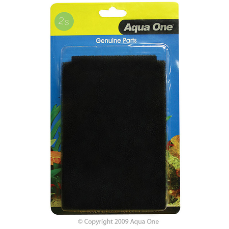 Aqua One Black Sponge - CF510 2 pack
