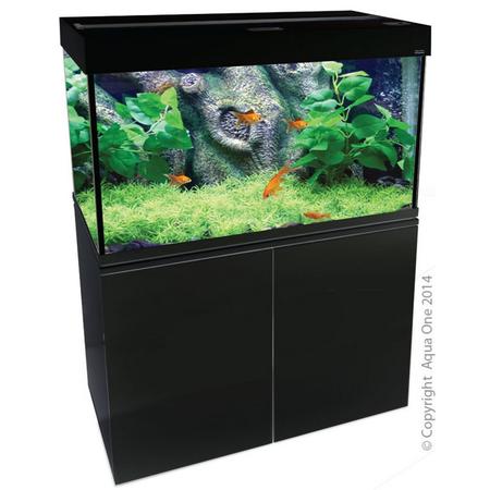 Aqua One Brilliance 120 Rectangular Aquarium Set 292L Black