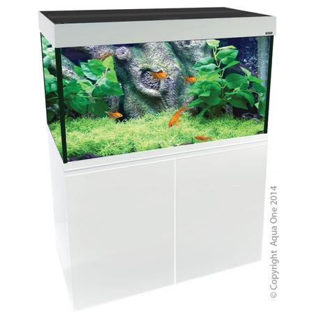 Aqua One Brilliance 120 Rectangular Aquarium Set 292L White