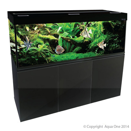 Aqua One Brilliance 150 Rectangular Aquarium Set 398L Black