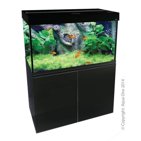 Aqua One Brilliance 80 Rectangular Aquarium Set 180L Black
