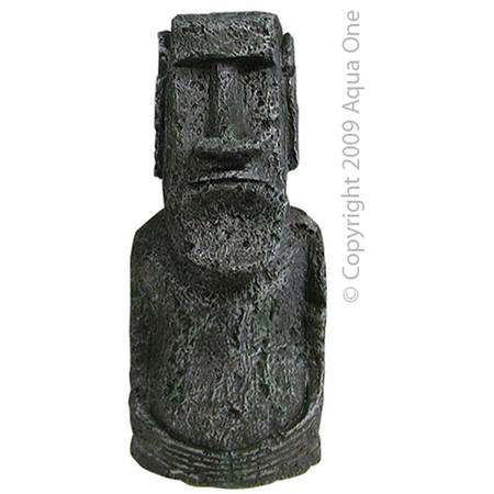 Aqua One Easter Island Statue Aquarium Ornament  Medium (8x18cm)