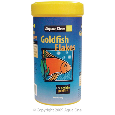 Aqua One Economy Goldfish Flakes Fish Food  100gm