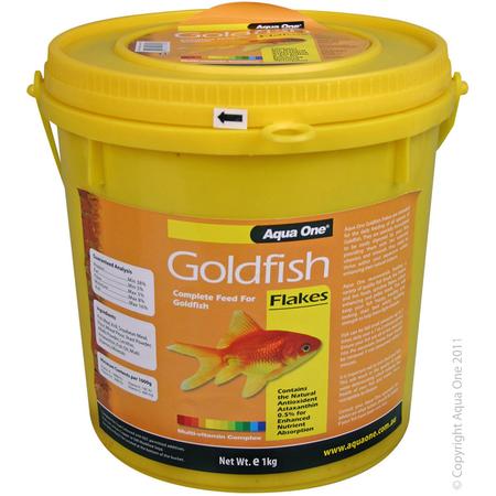 Aqua One Goldfish Flakes Bulk Bucket 1kg