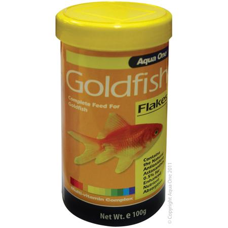 Aqua One Goldfish Flakes Fish Food 100gm