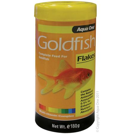Aqua One Goldfish Flakes Fish Food  180gm