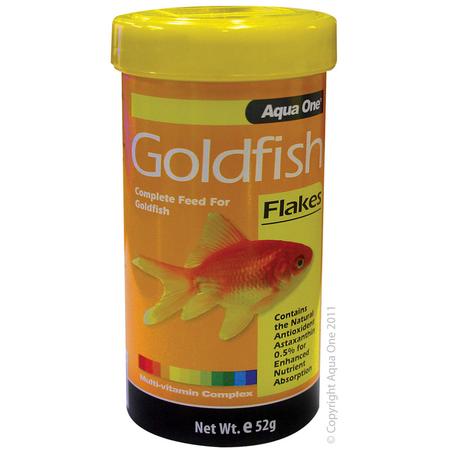 Aqua One Goldfish Flakes Fish Food  52gm
