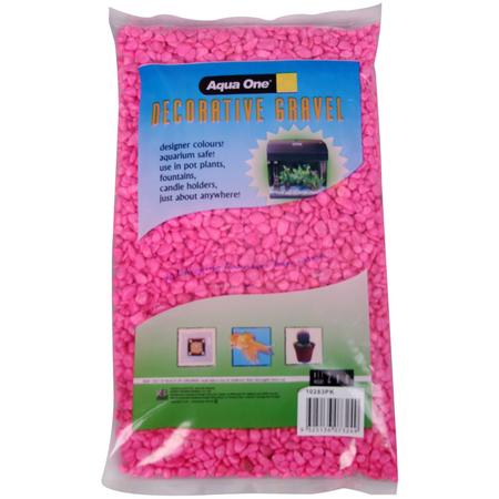 Aqua One Gravel 7mm Pink 2kg