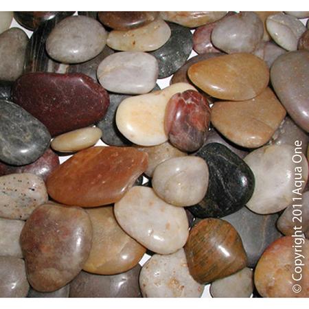 Aqua One Gravel Natural Polished River Stones Brown 5kg