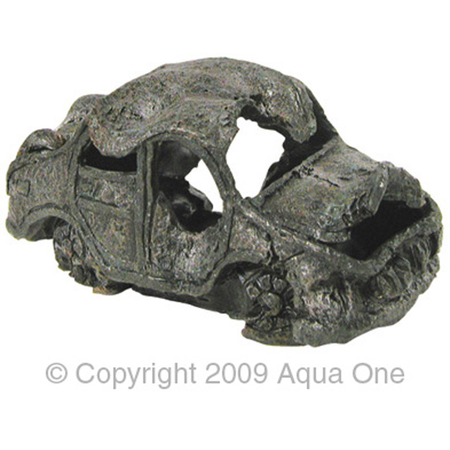 Aqua One Ornament - Ruined Car - 16x8cm