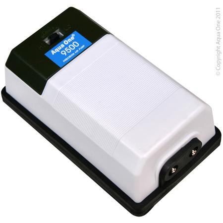 Aqua One Precision Airpump Twin Outlet  SR9500 (400L/hr)