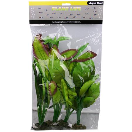 Aqua One SIlk Plant - 4pk Mix 6