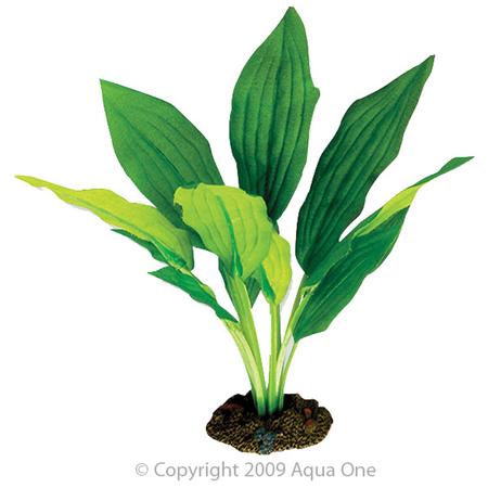 Aqua One Silk Plant-Amazon Broad Leaf 20cm