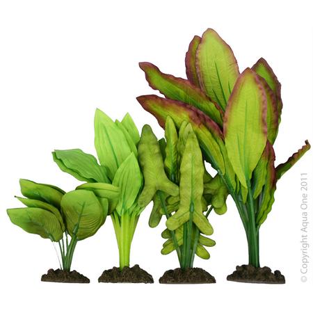 Aqua One Silk Plant 4pk - Mix 5