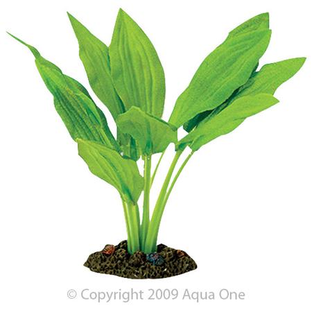 Aqua One Silk Plant Amazon Broad Leaf Artificial Aquarium Plant  13cm