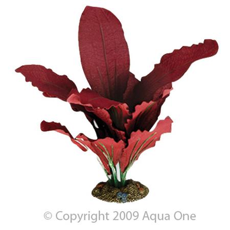 Aqua One Silk Plant Amazon Red Artificial Aquarium Plant  30cm