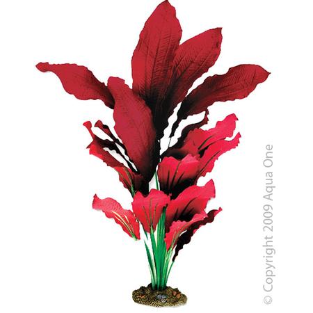 Aqua One Silk Plant Amazon Red Artificial Aquarium Plant  40cm