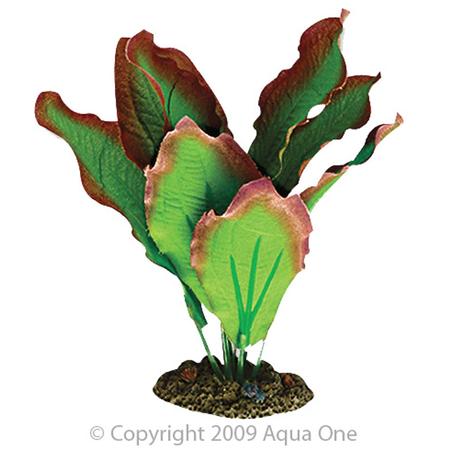 Aqua One Silk Plant Amazon Red and Green Artificial Aquarium Plant  13cm