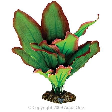 Aqua One Silk Plant Amazon Red and Green Artificial Aquarium Plant  20cm