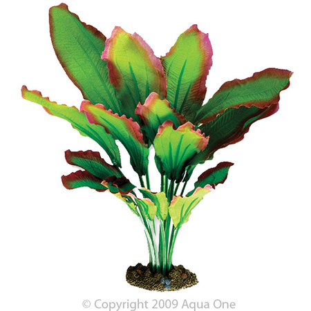 Aqua One Silk Plant Amazon Red and Green Artificial Aquarium Plant  30cm