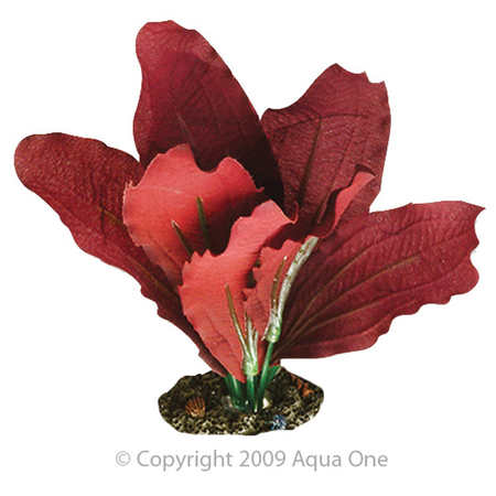 Aqua One - Silk Plant - Amazon Red - Artificial Aquarium Plant