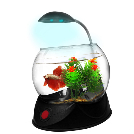 Aquatopia Betta Bowl with Light Black