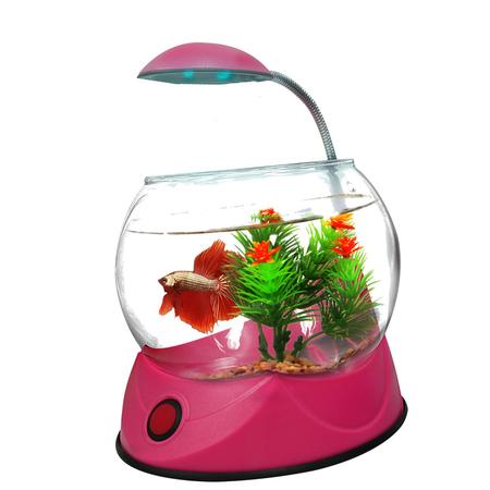Aquatopia Betta Bowl with Light Pink