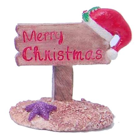 Aquatopia Christmas Fish Tank Decoration - Merry Christmas Sign