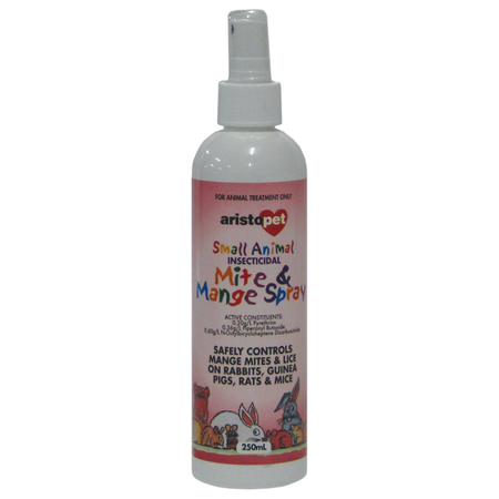 Aristopet Mite and Mange Spray for Small Animals  250ml
